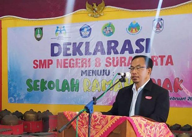 SMPN 8 Surakarta Deklarasikan Sekolah Ramah Anak