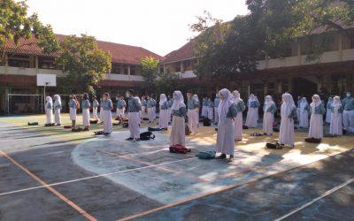 Uji Coba Pembelajaran Tatap Muka ( PTM ) Hari ke 2 di SMP N 8 Surakarta Berlangsung Lancar dan Sukses