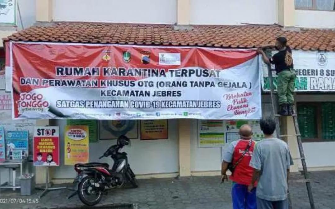 SMP Negeri 8 Surakarta Dijadikan Tempat Isolasi Mandiri Pasien OTG